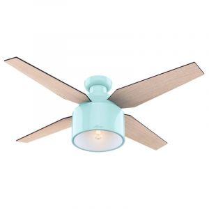 "Hunter Cranbrook 52"" LED Indoor Low Profile Ceiling Fan in Blonde Oak"