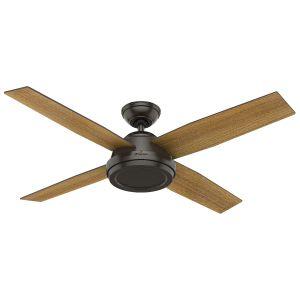 """Hunter Fans Dempsey 52"""" Ceiling Fan in Noble Bronze"""