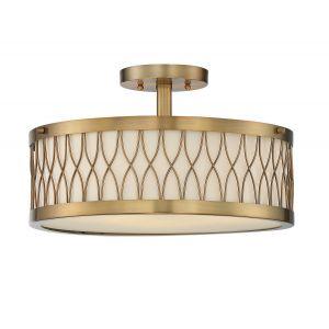Savoy House Spinnaker Semi-Flush  in Warm Brass