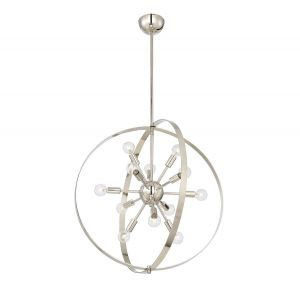 Savoy House Marly 12-Light Chandelier in Polished Nickel