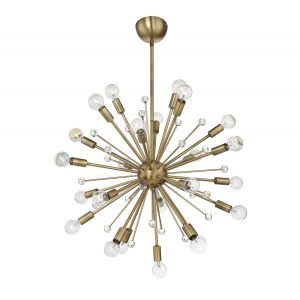 Savoy House Galea 24-Light Chandelier in Warm Brass