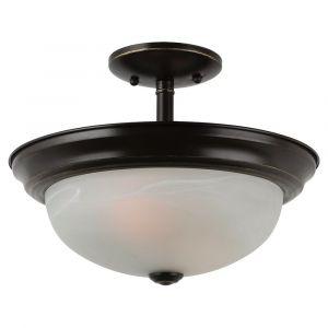 Sea Gull Lighting Windgate 2-Light Semi-Flush Convertible Pendant in Heirloom Bronze