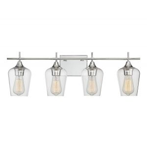 Savoy House Octave 4-Light Bathroom Vanity Light in Polished Chrome