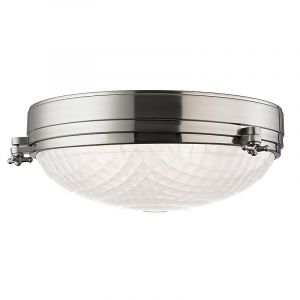 Hudson Valley Belmont 3-Light Flush Mount in Satin Nickel