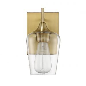 """Savoy House Octave 9.5"""" Wall Sconce in Warm Brass"""