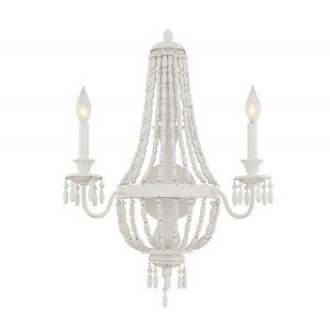 Savoy House Geneva 2-Light Sconce in Porcellan