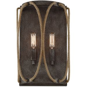 """Savoy House Keating 14"""" 2-Light Wall Sconce in Artisan Rust"""
