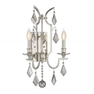 Savoy House Ballard  2-Light Sconce in Polished Nickel