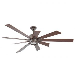"Craftmade Katana 72"" Ceiling Fan w/ Walnut Blades in Espresso"