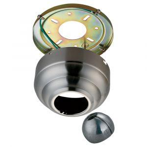 "Monte Carlo 5.25"" Slope Ceiling Fan Adapter in Brushed Steel"