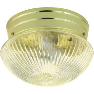 Nuvo Lighting 2-Light 10 in. Mushroom Flush in Polished Brass