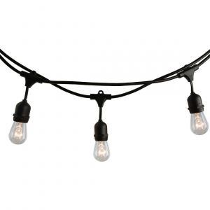Bulbrite 14' 10-Light S14 Outdoor Warm White String Lights in Black