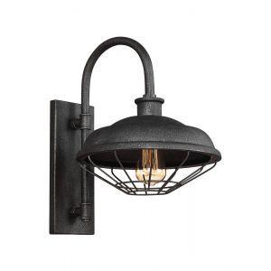 "Feiss Lennex 17.25"" Outdoor Wall Lantern in Slate Grey Metal"