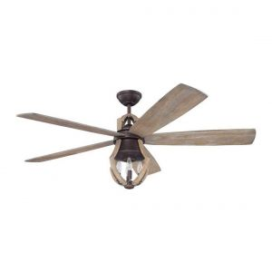 Craftmade Winton 3-Light Ceiling Fan w/ Blades in Aged Bronze Brushed