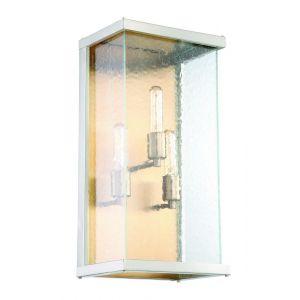 """Craftmade Farnsworth 20.25"""" 3-Light Wall Mount in Nickel/Aged Brass"""