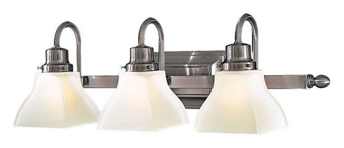 """Minka Lavery Mission Ridge 3-Light 26"""" Bathroom Vanity Light in Brushed Nickel"""