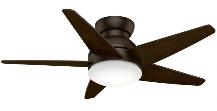 """Casablanca Isotope 44"""" 2-Light LED Indoor Ceiling Fan in Bronze/Brown"""