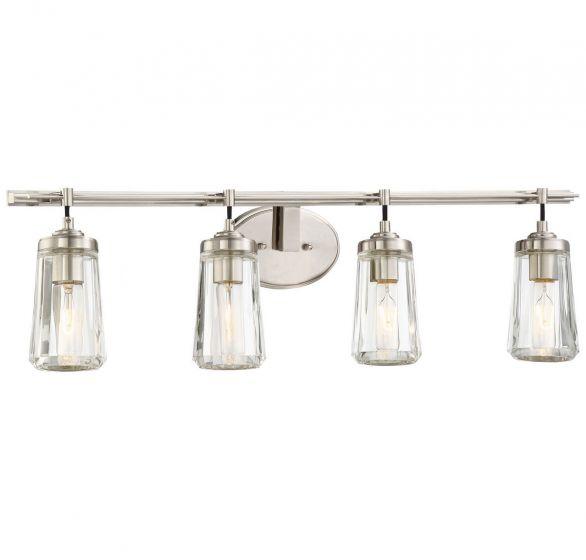 "Minka Lavery Poleis 4-Light 32"" Bathroom Vanity Light in Brushed Nickel"