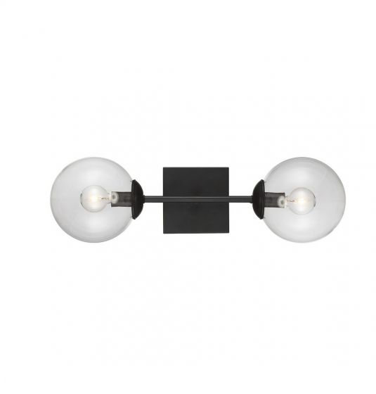 Trade Winds Lighting Orb 2-Light Sconce in Black