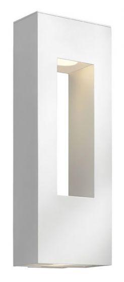 Hinkley Atlantis Dark Sky LED Outdoor Large Wall Light in Satin White