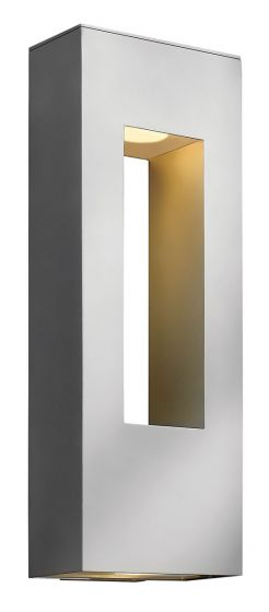 Hinkley Atlantis Dark Sky LED Outdoor Large Wall Light in Titanium