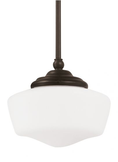 Sea Gull Lighting Academy Schoolhouse Pendant in Heirloom Bronze