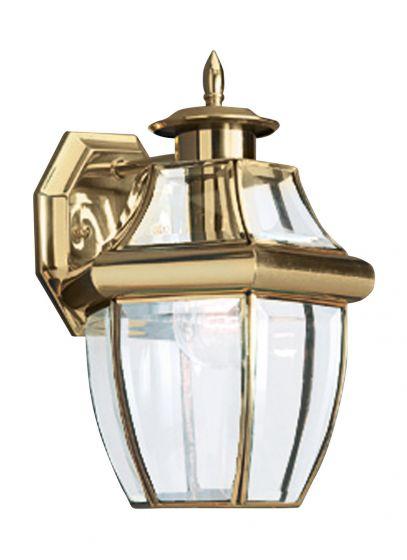 Sea Gull Lighting Lancaster 1-Light Outdoor Wall Lantern in Polished Brass