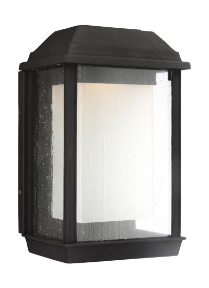 Feiss McHenry Medium StoneStrong Outdoor LED Wall Lantern in Textured Black