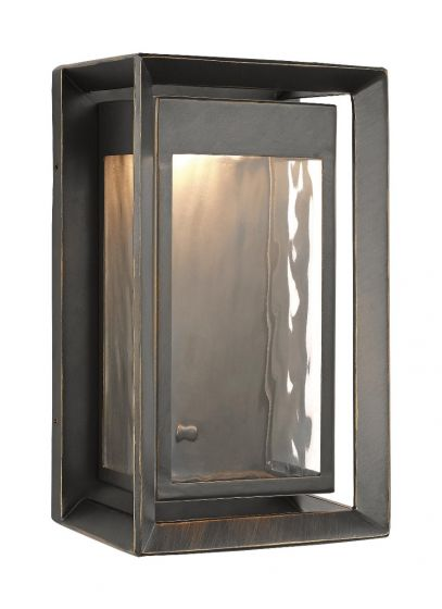 """Feiss Urbandale 10"""" 1-Light Outdoor LED Wall Lantern in Antique Bronze"""