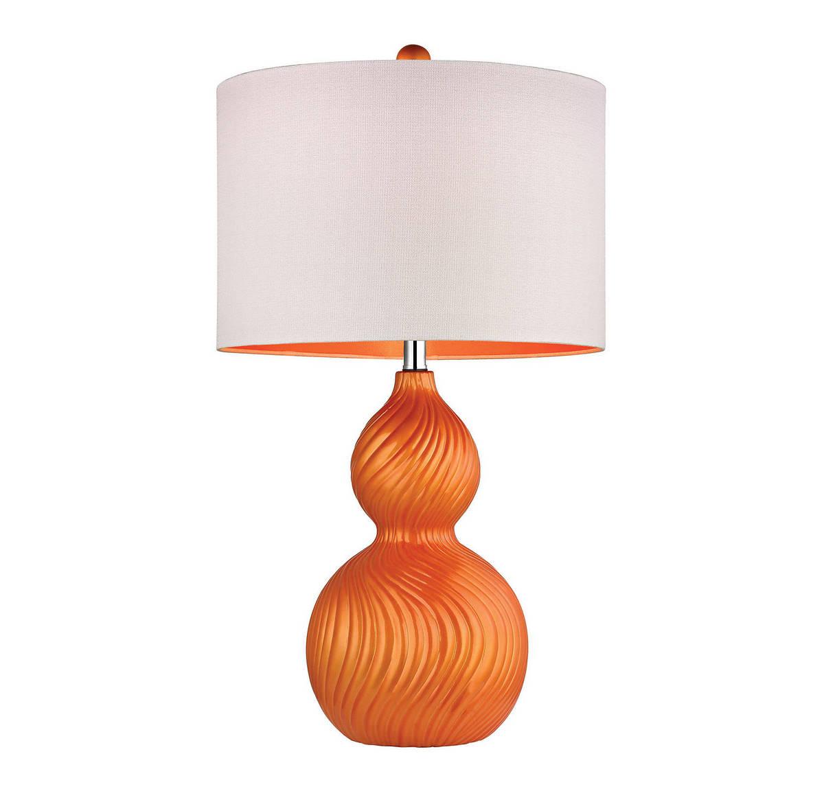 Dimond Carluke 26 Ceramic Table Lamp in Tangerine Orange