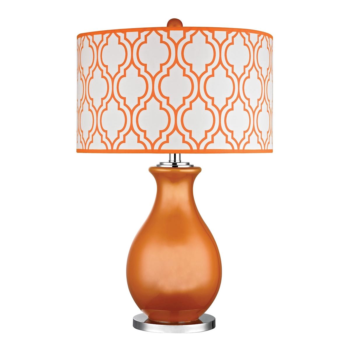 Dimond Thatcham 26 Glass Table Lamp in Tangerine Orange