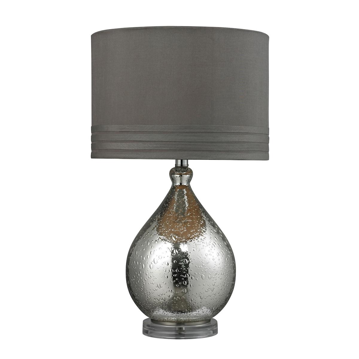 Dimond HGTV 24 Bubble Glass Table Lamp in Mercury Glass