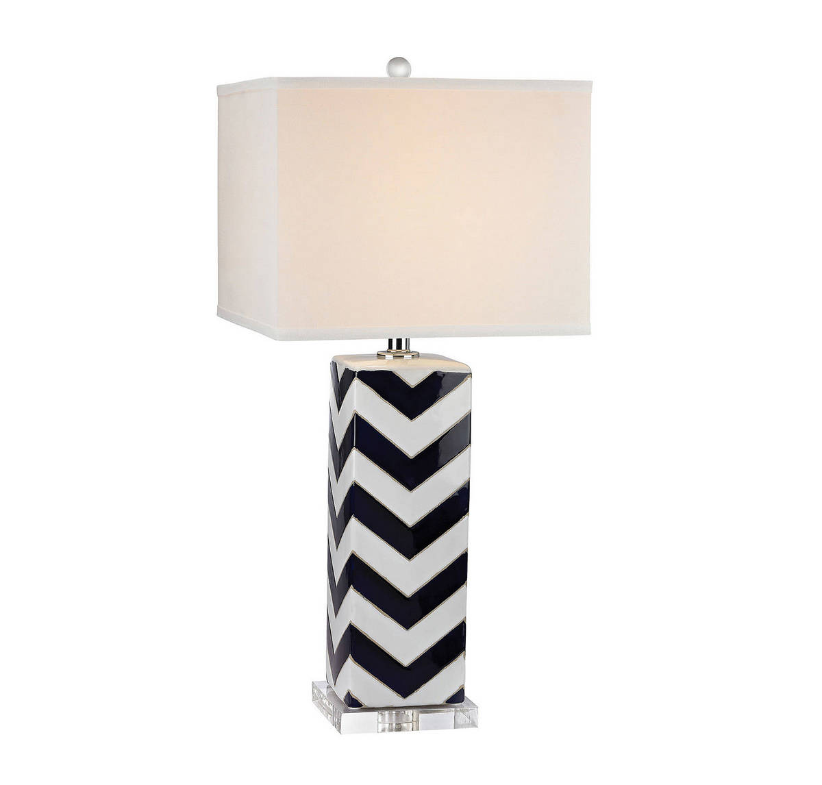 Dimond Chevron 31 Table Lamp in Navy and White