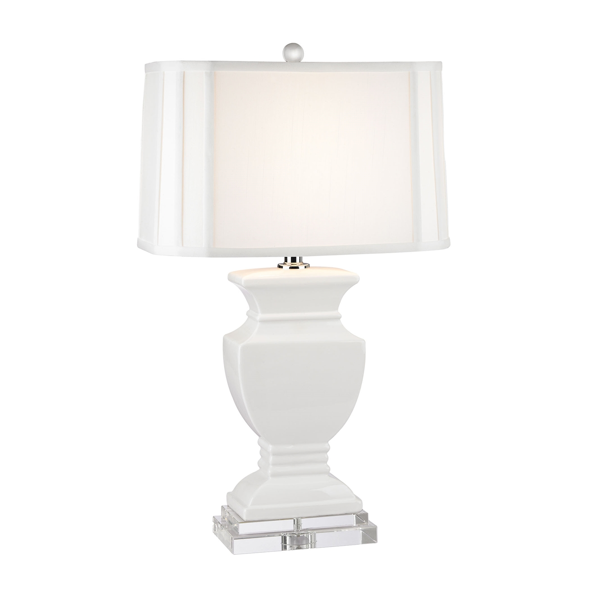 Dimond Trophy 27 Ceramic Table Lamp in Gloss White