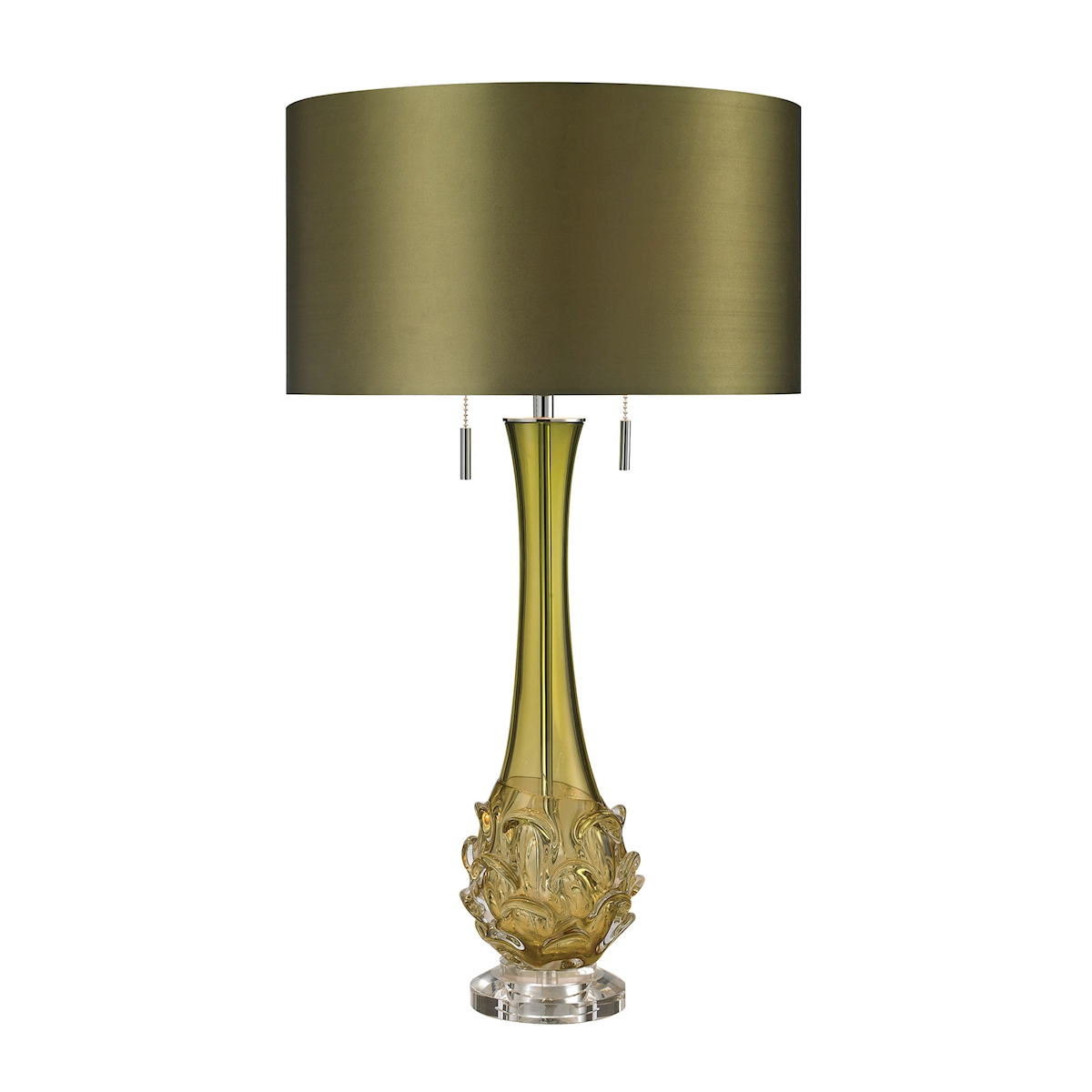 Dimond Vignola 28 Blown Glass Table Lamp in Green w/Shade