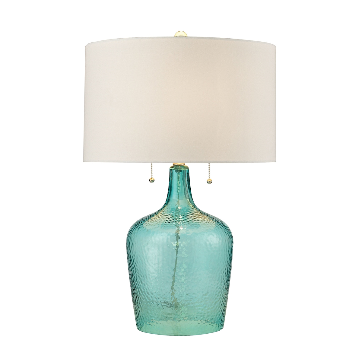 Dimond Hatteras 26 Hammered Glass Table Lamp in Seabreeze