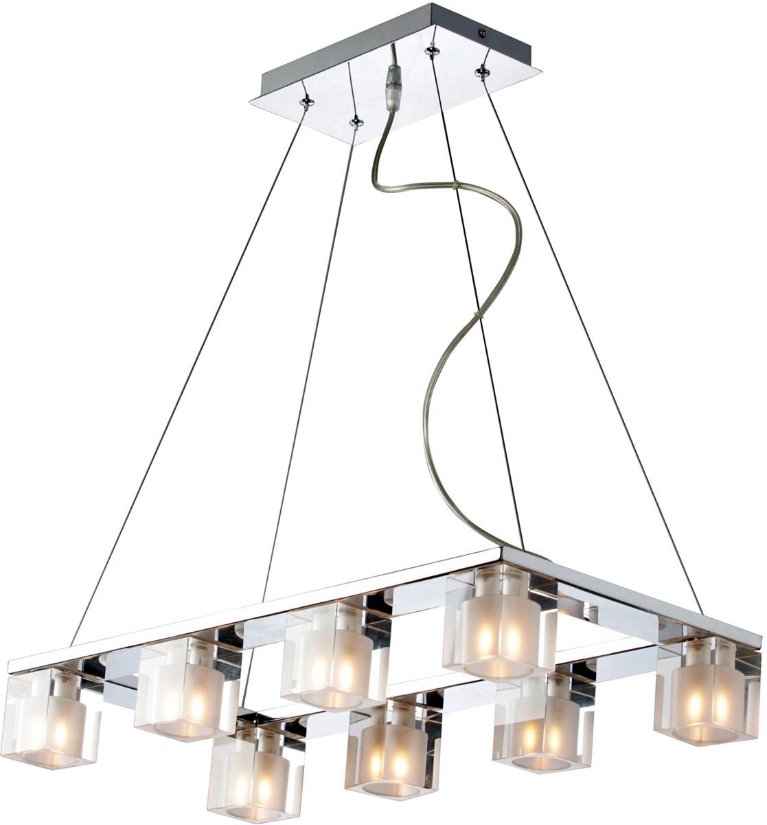ET2 Blocs 8-Light Island Lights, Polished Chrome