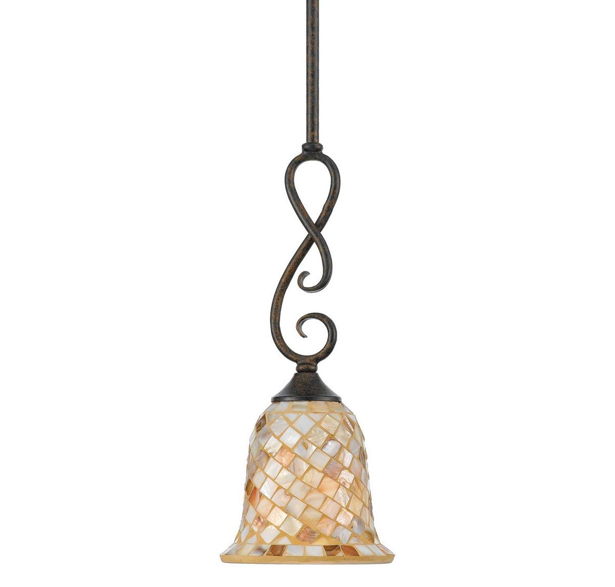 Quoizel Monterey Mosaic Mini Pendant in Natural/organic