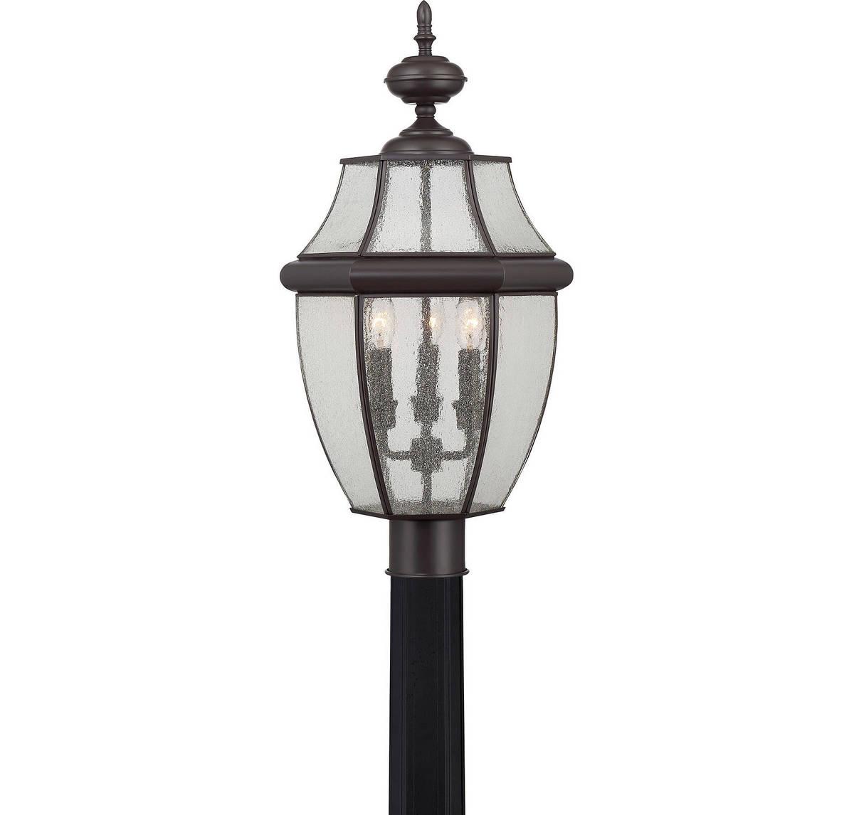 Quoizel Newbury 23 3-Light Post Lantern in Medici Bronze