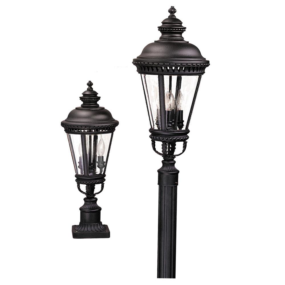 Feiss Castle Pier/Post Lantern in Black