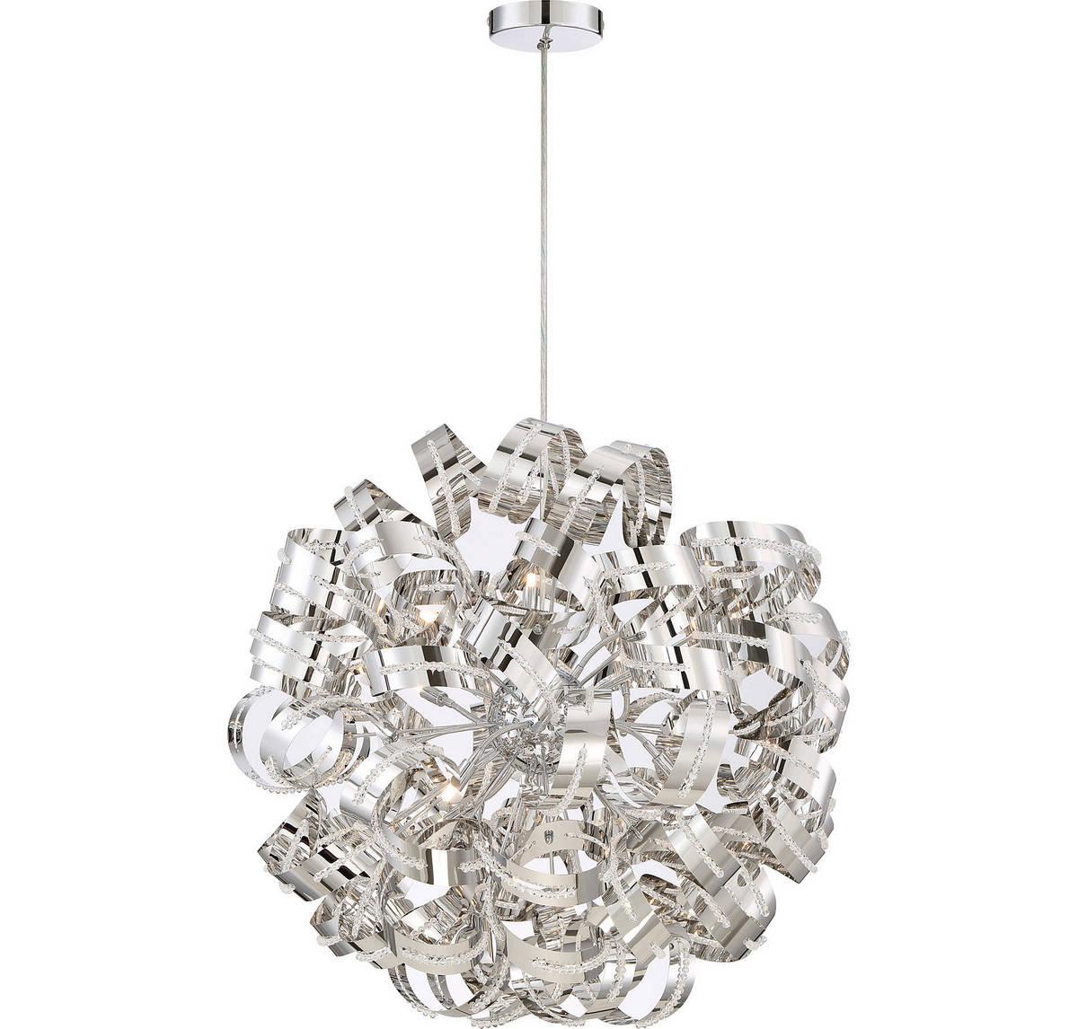 Quoizel Ribbons 31 12-Light Chandelier in Crystal Chrome