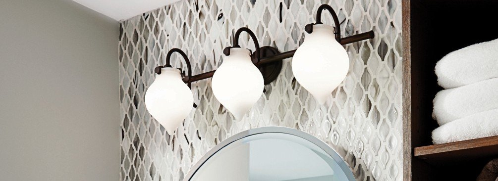 How To Choose Bathroom Vanity Lighting LightsOnlinecom - Bathroom vanity lights with shades