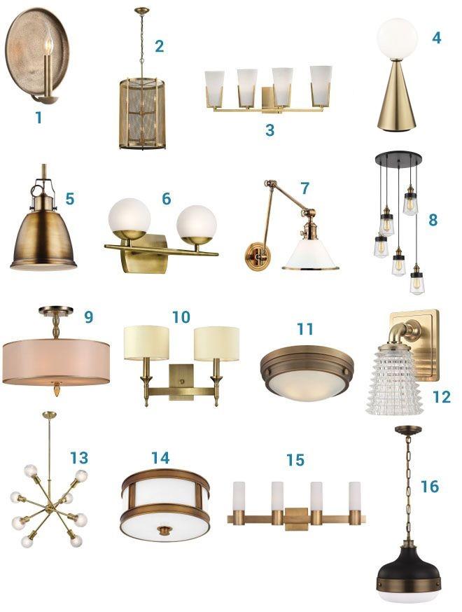 2018 Lighting Trends: Warm Brass