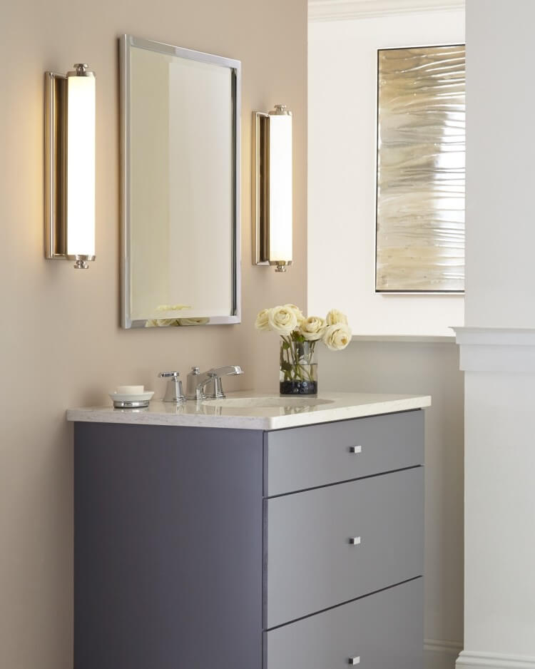 Feiss Edgebrook - The right way to use bathroom sconces - LightsOnline.com