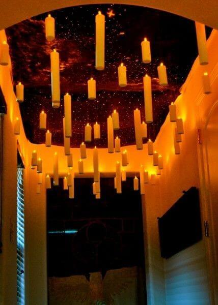 A cool lighting look for Halloween or Harry Potter! Learn more at LightsOnline.com Blog.