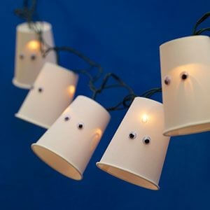 Cute ghost lights that aren't too scary. Learn more at LightsOnline.com Blog.