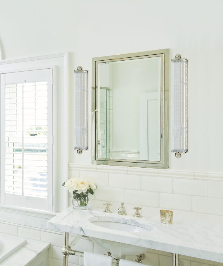 The Right Way To Use Bathroom Sconces - Bathroom sconces with shades