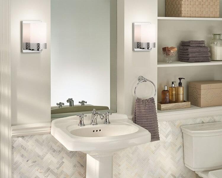 Kichler Contessa   The Right Way To Use Bathroom Sconces   LightsOnline.com