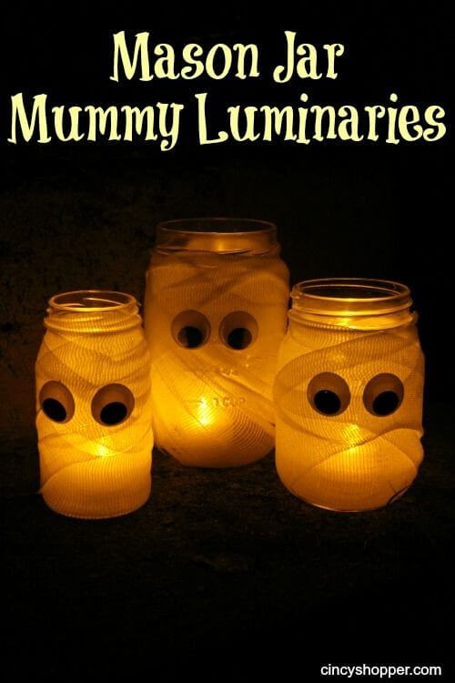 These mummy luminaries are watching you...Learn more on LightsOnline.com Blog.