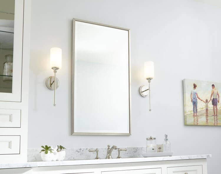 Quorum Celeste - The right way to use bathroom sconces - LightsOnline.com